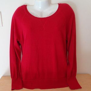 Sonoma Crewneck Sweater Long Sleeve Red Size 1X